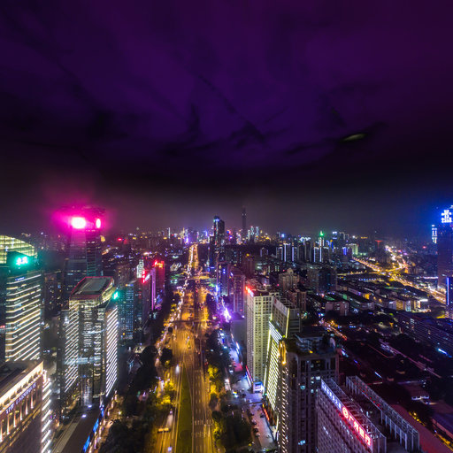 东海国际俯看深圳夜景