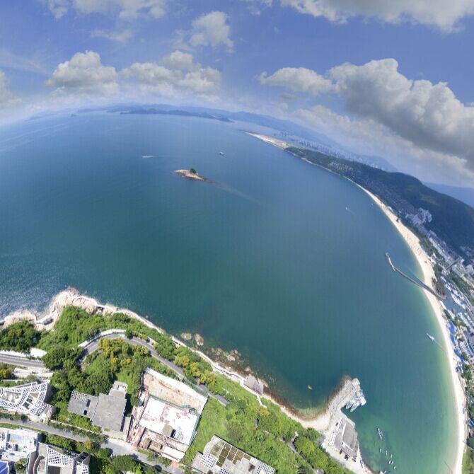 空中看黄金海岸万科天琴湾