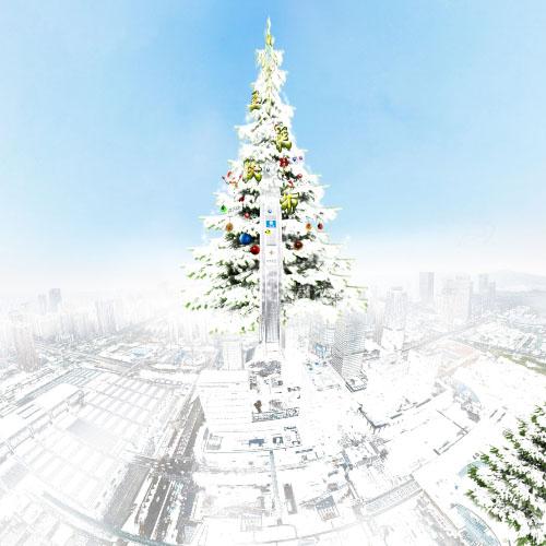 世界上最大的圣诞树600米高,最大的祝福你送了吗?