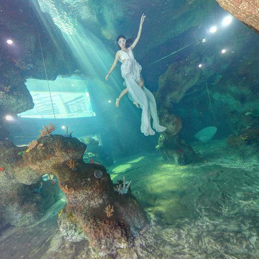 水下全景人像